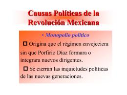 Causas Políticas de la Revolución Mexicana