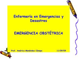 EMERGENCIAS OBSTETRICAS - auxilio