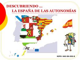 DESCUBRIENDO LA ESPAÑA DE LAS AUTONOMÍAS