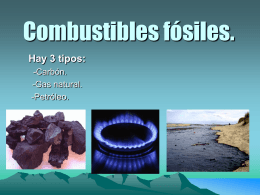 Combustibles fósiles.