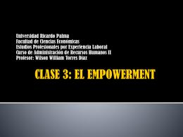 CLASE 7: EL EMPOWERMENT
