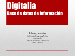 Digitalia Base de datos de información