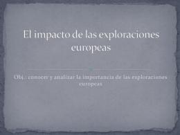El impacto de las exploraciones europeas