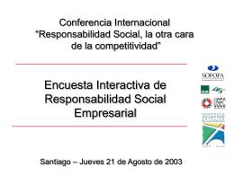 Encuesta de Responsabilidad Social Empresarial