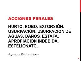ACCIONES PENALES - Derechos Reales II