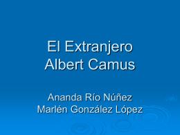 El Extranjero Albert Camus