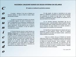 HACIENDA MANTIENE SUPERÁVIT FISCAL Ministerio de