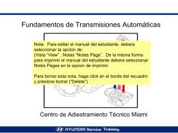 Diagnostico de Transmisiones Automaticas