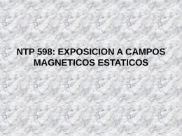 NTP 598: EXPOSICION A CAMPOS MAGNETICOS ESTATICOS
