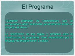 Características de los Programas