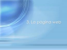 3. La página web