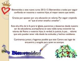 Bienvenidos a este nuevo curso 2012