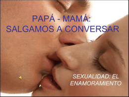 PAPÁ - MAMÁ: SALGAMOS A CONVERSAR