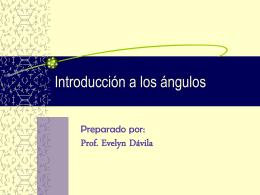 Introducción a los ángulos