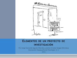 elementos de un proyecto de investigacion -