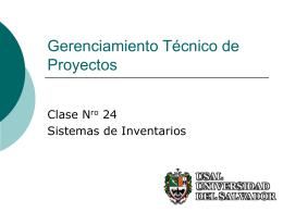 Clase 24 - Sistemas de Inventario