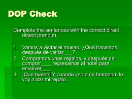 DOP Check