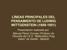 LÍNEAS PRINCIPALES DEL PENSAMIENTO DE LUDWIG