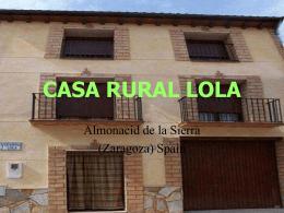 Presentación PPS - Casa Rural Lola. Almonacid de