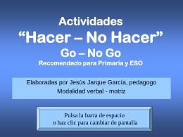 """PRUEBAS """"GO – NO GO"""""""