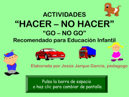 PRUEBA GO – NO GO INFANTIL