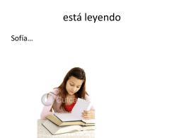 está leyendo