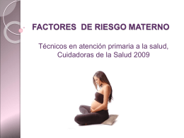 Factores de riesgo materno