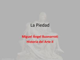 La Piedad - Historia del Arte II