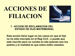 ACCIONES DE FILIACION