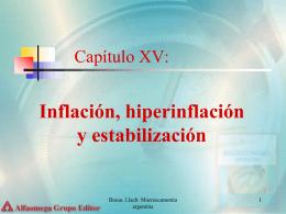 Capítulo XV: Inflación, hiperinflación y