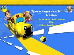 Operaciones con Números Reales