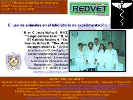 El uso de animales en el laboratorio de