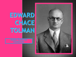 biografia Edward Chace Tolman - PSIQUE ESTHER -