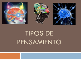TIPOS DE PENSAMIENTO - teamdhpc2011