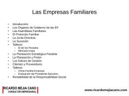 Las Empresas Familiares - Ricardo Mejía Cano |