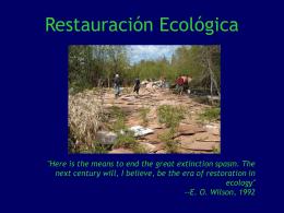 Restauración Ecológica - Sembiolconserv`s Weblog