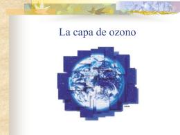 La capa de ozono - C.P.E.T. RIO GRANDE