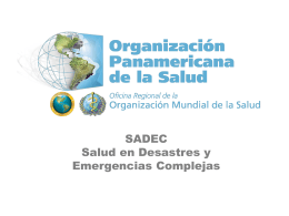 Diapositiva 1 - DISASTER info DESASTRES