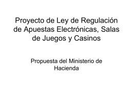 Proyecto de Ley de Regulación de Apuestas