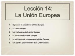 13. La Unión Europea - MI OTRA CLASE DE HISTORIA