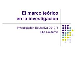 MARCO TEÓRICO - Investiga