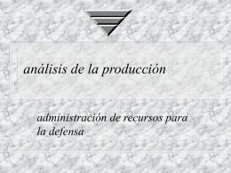 TEORIA DE LA PRODUCCION