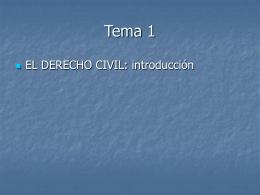 EL DERECHO CIVIL - Derecho Civil para RRLL |
