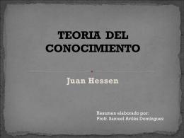 TEORIA DEL CONOCIMIENTO - Exploración docente |