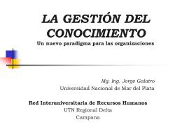 LA GESTION DEL CONOCIMIENTO