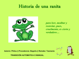 HISTOIRE DE LA GRENOUILLE. || HISTORIA DE UNA
