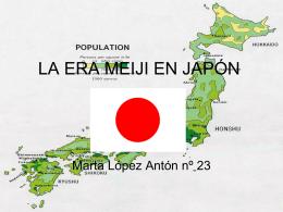 LA ERA MEIJI EN JAPÓN - Historia en 1º Bachiller