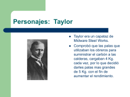 Personajes: Taylor