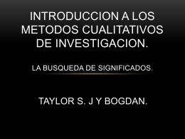 INTRODUCCION A LOS METODOS CUALITATIVOS DE