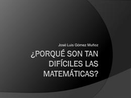¿Porqué tengo que estudiar matemáticas?